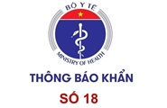 Thong bao khan so 18 - Bo Y te